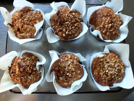 muffins halva rose cardamom