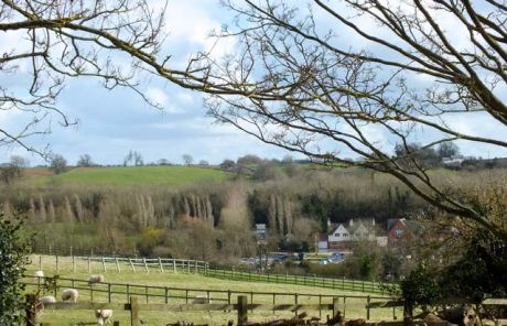 Looking from Southfield cottage to Braunston marina